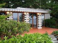 Home: William B. Tracy House & Garage, Normandy Park (Seattle), Washington by Frank Lloyd Wright, 1956