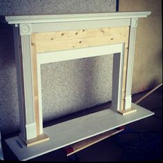 Fake mantle for our fireplace-free house.  Must build.