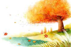 풍경, 배경, 백그라운드, 계절, 자연, 낙엽, 나무, 단풍나무, 일러스트, freegine, 가을, illust, 단풍, 가을배경…