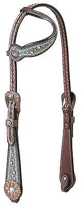 Weaver Leather Savannah Flat Sliding Ear Western Headstall - Swarovski® Crystals