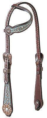 Weaver Leather Savannah Flat Sliding Ear Western Headstall - Swarovski® Crystals