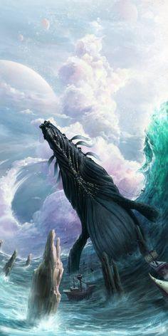 Whale Picture  (2d, fantasy, whale, creature)