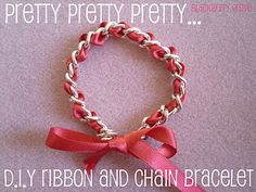 d.i.y. ribbon and chain bracelet tutorial