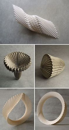 paper artist Andrea Russo's paper folding and origami work. High-class skill in paper folding. Architecture Origami, Atelier Theme, Origami And Kirigami, Origami Paper Art, Paper Engineering, Paper Jewelry, Paper Artist, Paper Folding, Sculpture Art