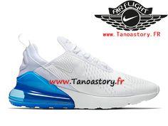 b7ddb5013f87 Chaussures Homme Nike Air Max 270 Prix Pas Cher Blanc Bleu AH8050-105-Tenez