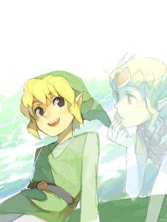 Spirit Tracks: LoZ - Link and Zelda