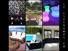 BATHMARINE.ES Muebles Rústicos, Teka Jardin, Rattan Sintético, con LUZ, ... Luz Led, Rattan, Videos, Gold Leaf, Luxury Furniture, Chaise Lounges, Teak, Solid Wood, Wicker