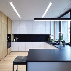 32 Amazing Modern Wood Kitchen Design Ideas - Unless you plan to spend the rest of your life in your current home if you are planning a kitchen makeover then best advice is not only to think about. Kitchen Room Design, Interior Design Kitchen, Home Decor Kitchen, Kitchen Ideas, Zen Kitchen, Interior Garden, Kitchen Trends, Apartment Kitchen, Kitchen Layout
