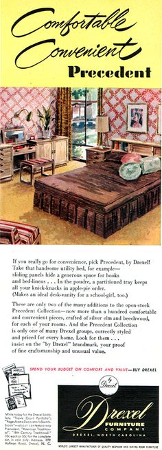 DREXEL 1951 PRECEDENT - Edward Wormley - Better Homes & Gardens July 1951