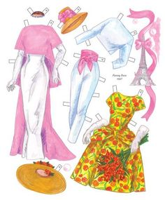 Hollywood Goes to Paris Paper Dolls