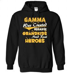 Gamma - A Real Hero - #tshirt text #hoodie pattern. I WANT THIS => https://www.sunfrog.com/Christmas/Gamma--A-Real-Hero-3229-Black-Hoodie.html?68278