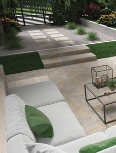 Create an elegant, classic look to your garden with Burlington, a stylish alternative to traditional paving stones, this outdoor porcelain tile gives a modern look to patios, terraces and pathways. Outdoor Porcelain Tile, Outdoor Tiles, Paving Stones, Al Fresco Dining, Terraces, Pathways, Classic Looks, Outdoor Living, Garden Design