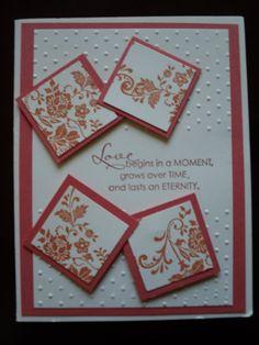 Handmade Stampin Up Wedding Card on Etsy, $3.00