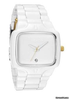 Unisex Nixon The Player Diamond Watch All White, White Gold, Cool Watches For Women, Discount Watches, Diamond Studs, Gold Watch, Bling, Pure Products, Unisex