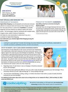 May 2015 Newsletter: May is Skin Cancer Awareness Month