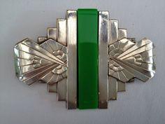 French Art Deco brooch