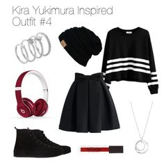 Kira Yukimura Inspired Outfit #4 by thebanshee24 on Polyvore featuring polyvore fashion style Chicwish Ann Demeulemeester Vince Camuto FOSSIL Beats by Dr. Dre clothing TeenWolf tw