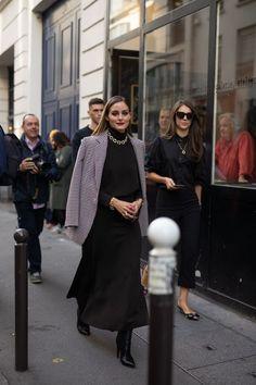 Olívia Palermo in Paris Olivia Palermo Street Style, Estilo Olivia Palermo, Armani Prive, Oliver Peoples, Giorgio Armani, Balmain, Fendi, Tailored Fashion, Cute Fashion