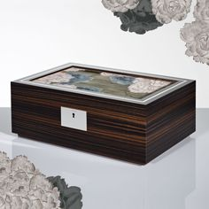 The LINLEY Rose Box in Macassar Ebony