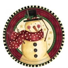 Click and checkout today with your Cozy Snowman Plates - 17.7cm - Pack of 8 by weeabootique! #shop