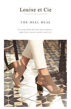 Louise Et Cie Vanita Block Heel Sandals