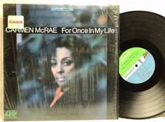Carmen McRae For Once in My Life Jazz Atlantic in-shrink LP, Vinyl Record, Album stores.ebay.com/capcollectibles