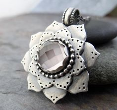 Silver Flowers, Beach Jewelry, Leather Cord, Fossils, Pale Pink, Rose Quartz, Neutral, Rings For Men, Lost