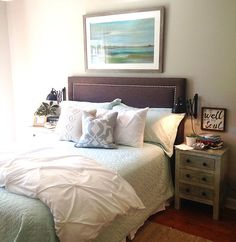 Master bedroom makeover! See before photo at Angela Statzer Designs