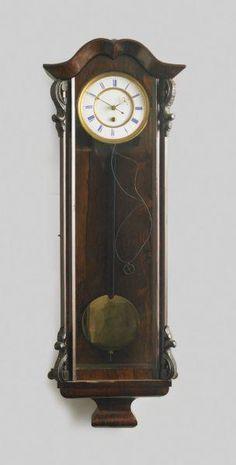 A rosewood and ebonised Vienna regulator wall clock, German,