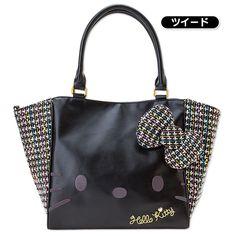 Hello Kitty Handbag Tote Bag Tweed SANRIO JAPAN