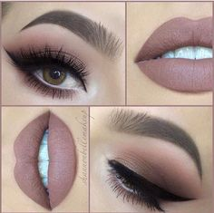 Rose gold eye x Nude matte lip