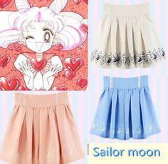 Anime sailor moon 20th Anniversary Skirt girls Kawaii sweet dress up four colors #Unbranded #Mini