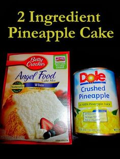 - 2 Ingredient Pineapple Cake! So Easy-Moist-Delicious!