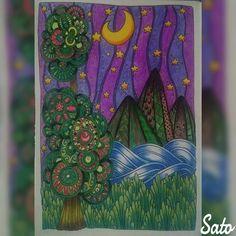 🌌Noite abstrata🌌 🌌Abstract night🌌 #thecantsleepcolouringbook #livroantiinsônia #arttherapy #divasdasartes #prazeremcolorir #coloriage…