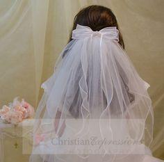 first communion clip veils-v810