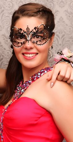 Strathallan Ball 2015. Gorgeous mask! www.whitedoor.co.nz