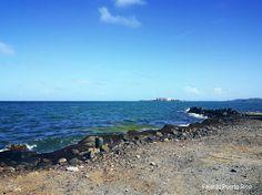 Desde el parque pasivo de las croabas en fajardo,Puerto Rico se puede apreciar esta vista ...