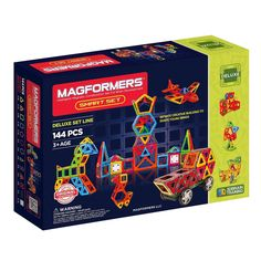 Wheels Magformers Amazing Police 50Piece Blue Red Colors Educational Magnetic Geometric Shapes Tiles Building STEM Toy Set Ages 3+