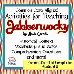 "Lewis Carroll's ""Jabberwocky"" Activity Pack"