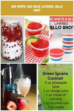 nanking cherry liqueur I can't wait to try this. Pineapple Juice, Orange Juice, Layered Jello, Cherry Liqueur, Green Iguana, Liquor Drinks, Coconut Rum, Jello Shots, Vodka