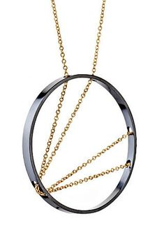 Bold, kinetic, and sculptural 14K Gold Fill chain necklace by Vanessa Gade. Special Promotion: Buy 3 get 1 FREE. See full range of designs on the website.