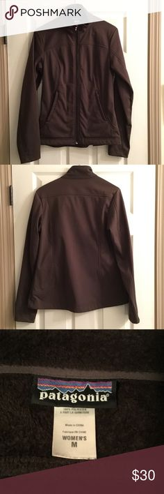 Patagonia zip jacket Patagonia zip up jacket with 2 zip pockets Brown, fleeced lined and in good condition Patagonia Jackets & Coats