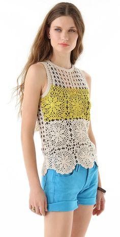 Blusa por encargo del ganchillo CROCHET moda por LecrochetArt