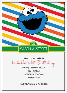 Sesame Street Birthday Printable Invitation
