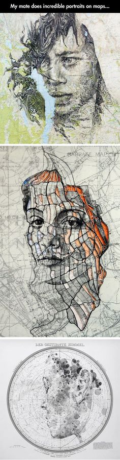 Faces With The Texture Of Maps by Ed Fairburn