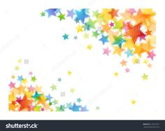 Colorful Stars Fill Opposite Corners Of A White Background. Стоковые фотографии 170010731 : Shutterstock