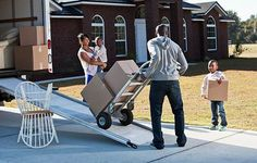 Moving Checklist and Calendar: How to Move in 30 Days - Family moving boxes on to a moving truck Moving Day, Moving Tips, Moving And Storage Companies, Workers Compensation Insurance, Moving Checklist, Packing To Move, Moving Boxes, Protecting Your Home, Best Places To Live