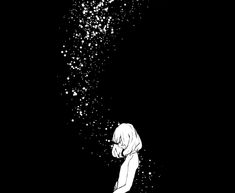 Discovered by ♚ 死神 ♚. Find images and videos about girl, black and white and anime on We Heart It - the app to get lost in what you love. Sad Anime, Manga Anime, Sad Girl Art, Black And White Girl, Galaxy Wallpaper, Sad Quotes, All Art, Find Image, We Heart It