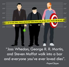 Murder, He Wrote | #GeorgeRRMartin #JossWhedon #StevenMoffat That would be scary yet exciting at the same time