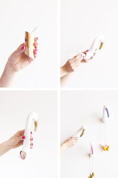 DIY Flamingo Wall Hooks